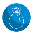 emblem bag with money inside vector image vector image