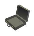 empty briefcase vector image vector image