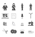 Fashion designer tools icon set vector image