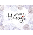 festive winter background with frame hoarfrost vector image vector image