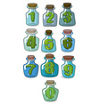 Figures in a retro bottle laboratory for vector image