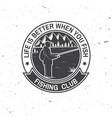 fishing sport club vector image vector image