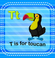 flashcard letter t is for toucan vector image vector image