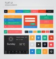 flat ui elements vector image vector image