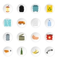 Garbage icons set flat style vector image vector image