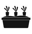 garden carrots icon simple style vector image