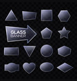 glass plates set triangle square rectangle round vector image