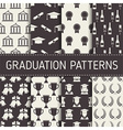 graduation seamless pattern collection vector image vector image