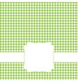 green retro frame vector image vector image