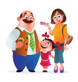 greeting card or poster to happy family day of vector image vector image