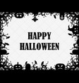 happy halloween october 31st festive frame with vector image vector image