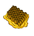 honeycomb drawing hand drawn honey vector image vector image
