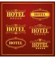 Hotel Vintage labels vector image