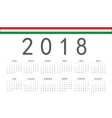 Hungarian 2018 year calendar vector image vector image