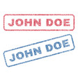 john doe textile stamps vector image vector image