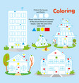 kid game coloring cartoon building printable vector image vector image