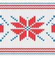 Knitted pattern with a snowflakes vector image vector image
