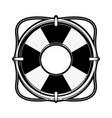 lifesaver flaot symbol vector image vector image