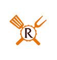 logo restaurant letter r vector image vector image