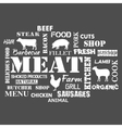 meat text set butcher vector image