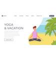 meditation flat landing page template yoga vector image vector image