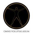 modern vitruvian man silhouette design vector image vector image