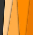Orange overlap layer paper material design vector image vector image