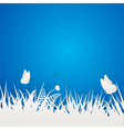 paper butterflies and grass vector image vector image