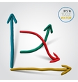 plasticine line chart vector image vector image