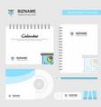 presentation board logo calendar template cd vector image vector image
