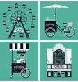 Retro Entertainment Icon Set vector image