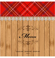 Scottish tartan pattern menu vector | Price: 1 Credit (USD $1)