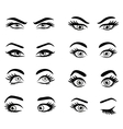 set cartoon eyes vector image vector image