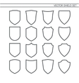 Shield Set line icons vector image vector image