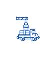shipment line icon concept shipment flat vector image vector image