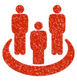 social group grunge icon vector image vector image