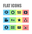 social icons set with community personal data vector image vector image