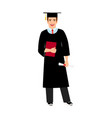 university male student graduate icon vector image vector image