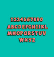 uppercase comic book text alphabet pop art vector image