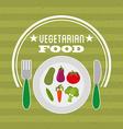 vegetarian menu vector image vector image