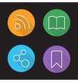 Web browser interface linear icons set vector image
