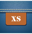 XS size clothing label vector image vector image