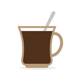 Coffee mug Cup of hot coffee and a spoon vector image