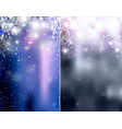 set of blurred blue and silver christmas winter vector image