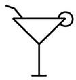 cocktail mojito icon vector image