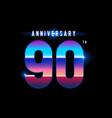 90 years anniversary celebration logotype vector image vector image