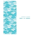 abstract blue waves vertical frame seamless vector image vector image