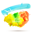 abstract summer watercolor background vector image vector image