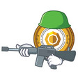 army komodo coin character cartoon vector image vector image