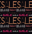 black friday sale pattern vector image